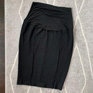 Junee Black Stretch Maternity Pencil Skirt